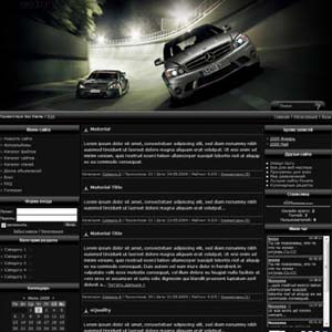 Шаблон для Ucoz на автомобильную тематику